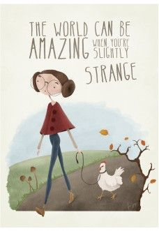 Anna Grape – illustration & design The world can be strange! Aline