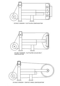 Yet another DIY belt sander project Metal Bending Tools, Metal Working Tools, Metal Tools, Knife Grinding Jig, Knife Grinder, Forging Tools, Blacksmith Tools, Power Hammer Plans, 2x72 Belt Grinder Plans
