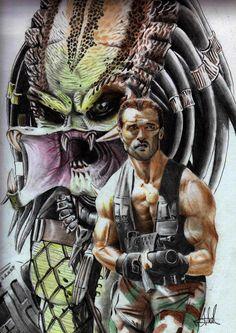 Predator by MuhammedFeyyaz on DeviantArt Predator Movie, Alien Vs Predator, King Kong, Scary Movies, Horror Movies, Badass Drawings, Giger Art, Aliens Movie, Alien Art