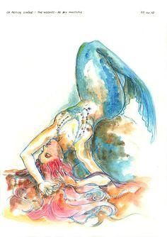 Watercolor + Mermaid = tattoo