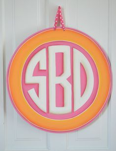 Image detail for -Personalized Preppy Door Sign/Wall Hanging
