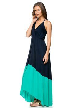 Color block maxi dress cheap