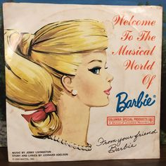 Welcome to the Musical World of Barbie Vinyl 7 Inch 45 1965 Mattel Columbia…