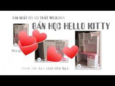 Bàn học Hello Kitty MSP: BHGS-TH.KITTY02 liền kệ sách dành cho bé gái họ...