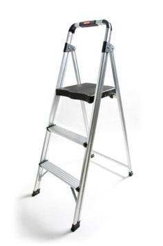Rubbermaid RM-AUL3 3-Step Ultra-Light Aluminum Stool with Plastic Top Step  sc 1 st  Pinterest & Sealey Aluminium Step Ladder 3-Tread EN 131 | Lightweight ... islam-shia.org