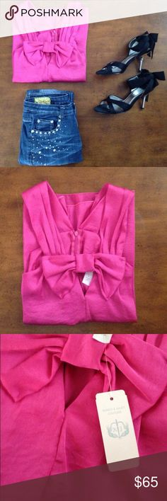 Romeo & Juliet Couture Top Size: M Color: Fuschia Material: Polyester Condition: NWT Brand: Romeo & Juliet Couture Romeo & Juliet Couture Tops