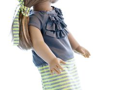 agdoll wedding | ... ) with Gray Ruffle Shirt and Hair Tie - Great Summer AG Doll Outfit