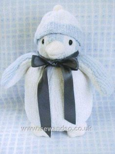 Not finished toys Knitted Tinsel penguin YARN KIT Make your own Penguins