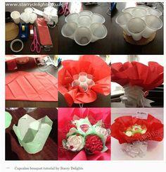 Cupcakes bouquet tutorial