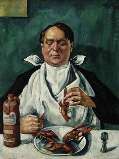 Kramsztyk, Roman (1885-1942) - 1919 Man Eating Crayfishes (National Museum, Warsaw, Poland) by RasMarley, via Flickr