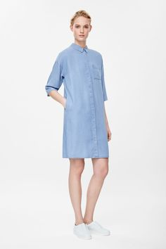 COS - Denim-look shirt dress