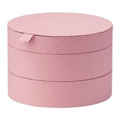 "PALLRA Box with lid  - IKEA 8-¾"" diameter x 6"" tall 3 compartments for storing jewelry,  hair clips, etc. Pink only."