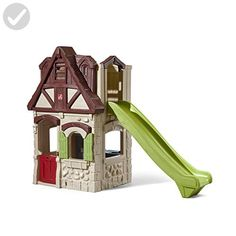 Playhouse & Slide by is one of most popular Outdoor Play products for children. View and shop now! Toddler Playhouse, Playhouse With Slide, Build A Playhouse, Playhouse Outdoor, Outdoor Toys, Outdoor Play, Toddler Toys, Toddler Activities, Outdoor Living