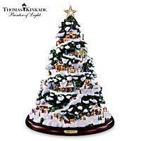 Thomas Kinkade Village Tabletop Tree
