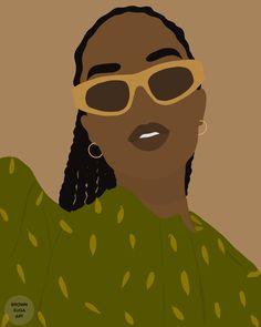 Black Love Art, Black Girl Art, Black Girls, Art Girl, Black Women, Woman Illustration, Portrait Illustration, Female Portrait, Female Art