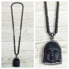 The buddha pendant is amongst one of the most popular spiritual  ornaments because it carries a significant meaning. We've seen them around everywhere and even on celebrities. Wearing a buddha necklace  attracts positive energy and it also generates a fighting spirit to fight against negative energies. Pair this black agate hand knotted buddha necklace with any ensemble for a polished look✨