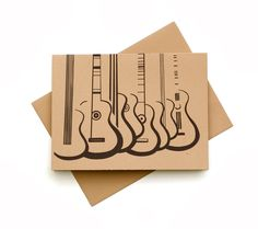 8 Abstract Guitar Greeting Cards with Envelope Original Artwork. $16.00, via Etsy.