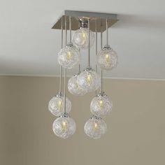 Viereckige Wohnzimmerlampe Mit Silberfarbenen Fade