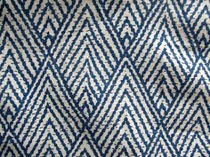 FOR SAMPLES SEE LINK BELOW https://www.etsy.com/listing/104333965/s-a-m-p-l-e-s  tahitian stitch BLUE SAPPHIRE 55wide cotton geometric ikat repeat