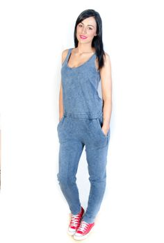 Neon Rose Denim Jump suit... ideal for casual days still looking cool and smart