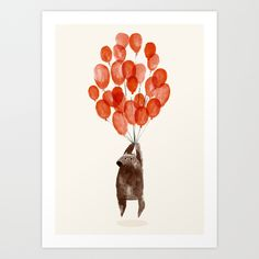 Almost+take+off+Art+Print+by+Budi+Kwan+-+$19.97