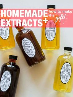 Homemade extracts for baking.