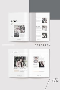 Proposal - Inara --- When you need to make a great first impression, a modern and elegant template like 'Inara' has you covered. A complete business proposal Booklet Design, Brochure Design, Portfolio Layout, Portfolio Design, Editorial Layout, Editorial Design, Print Layout, Layout Design, Magazine Design