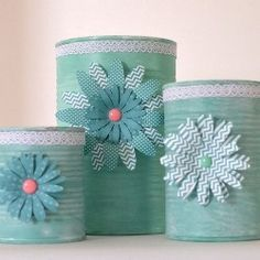 Upcycle soup cans into pretty storage containers  Posted by create and babble| Looksi Square