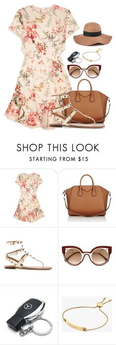 """Untitled #2713"" by moxfordf on Polyvore featuring Zimmermann, Givenchy, Valentino, Fendi, Mercedes-Benz and Reiss"
