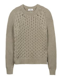 Acne Mixed-Knit Sweater - Long Sleeve Sweater