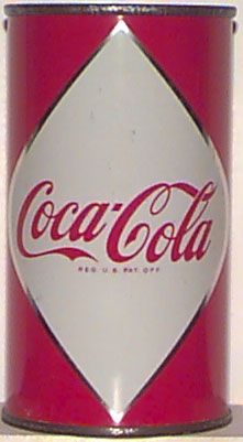 Cans of Coke first appeared in 1955