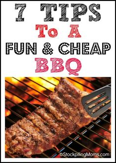 There is no better Father's Day Treat than grilling out for Dad! - 7 Tips To A Fun & Cheap BBQ Grilling Tips, Grilling Recipes, Bbq Tips, 500 Calories, Cheap Bbq, Healthy Food Delivery, Bbq Party, Backyard Bbq, Summer Bbq