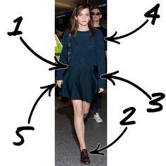 Emma Watson Sweater Skirt Outfit Idea - Emma Watson Style Inspiration - Seventeen