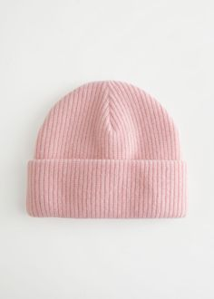 Knitted Wool Blend Beanie - Light Pink - Beanies - & Other Stories GB