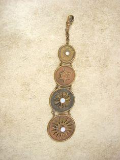 Vintage Victorian  Sun genuine OPAL FOb Chain by vintagesparkles, $65.00