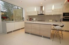 cashmere high gloss and wood kitchens - Google Search