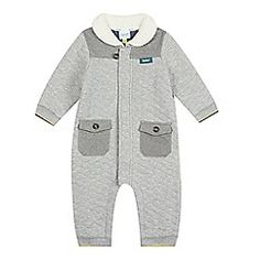 Baker by Ted Baker - Babies grey quilted all-in-one suit debenhams.com