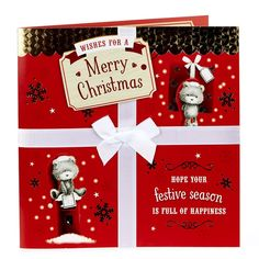 Exquisite Collection Christmas Card - Cute Bears | Card Factory