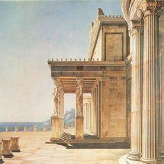 Karl Friedrich Schinkel, Karyatidenhalle des kaiserlichen Schlosses Orianda in der Krimm, 1800 » L A P I S
