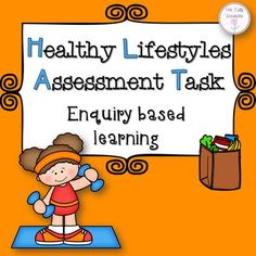 Healthy Lifestyle Assessment Task, Healthy Eating and Exercise:- A three part assessment task where students need to discuss healthy eating, exercise and barriers to living a healthy lifestyle.Part A- Students create a healthy eating plan for one week, which contains scaffolding to help students brain storm some ideas for healthy food ideas.Part B- Students create an exercise program using the guidelines for recommended exercise.