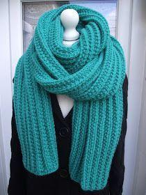 Crochet et tricot facile avec explications: Echarpe tricot XXL