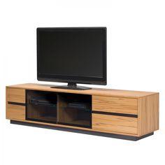 TV-Lowboard ML 285 (inkl. Beleuchtung) - Eiche Sägerau Dekor