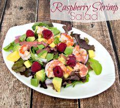 Raspberry Shrimp Salad #15MinuteSupper
