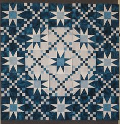 Star Quilt on design board by Linda Steele