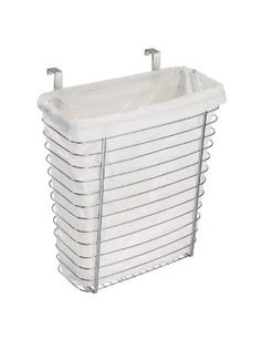 InterDesign Axis Over the Cabinet Waste/Storage Basket  {ok, i'm probably way more excited about this than most normal people would be... but, I LoVe IT!  This would be so perfect for the bathroom-- I hate bathroom garbage cans being in sight, and this would be SO handy right under the sink! }