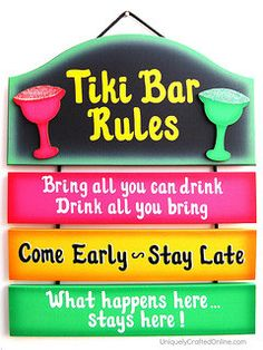 Tiki Bar Sign by UniquelyCraftedSigns on Etsy, $24.95
