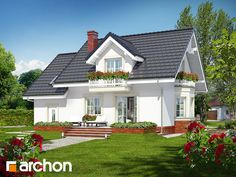 Dom w rododendronach 15 Home Fashion, House Plans, Farmhouse, Outdoor Structures, How To Plan, Mansions, House Styles, Home Decor, Life