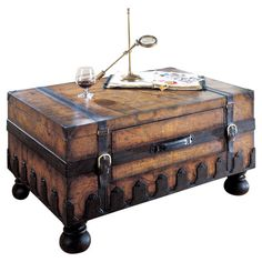 You should see this Heritage Trunk Coffee Table in Old World Map on Daily Sales! -$919.00