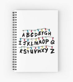 Things drawings 'Stranger things ' Spiral Notebook by Iregale Bullet Journal Ideas Pages, Bullet Journal Inspiration, Stranger Things Alphabet Wall, Stranger Things Wall, Kalender Design, Cute Notebooks, Spiral Notebooks, Cute School Supplies, Diy Notebook