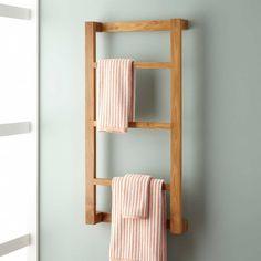 Wulan Teak Hanging Towel Rack